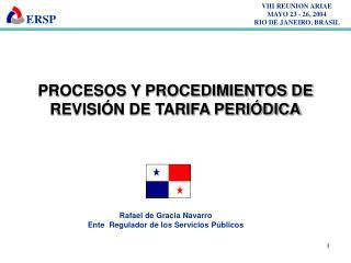 VIII REUNION ARIAE MAYO 23 - 26, 2004 RIO DE JANEIRO, BRASIL