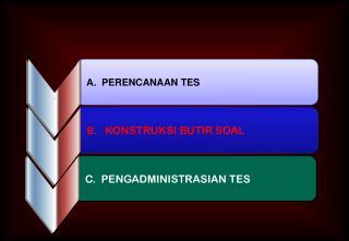 A.  PERENCANAAN TES