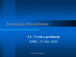 Strategijski Menad � ment