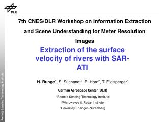 Extraction of the surface velocity of rivers with SAR-ATI