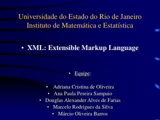 Universidade do Estado do Rio de Janeiro Instituto de Matemática e Estatística