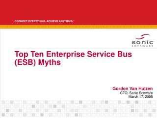 Top Ten Enterprise Service Bus (ESB) Myths