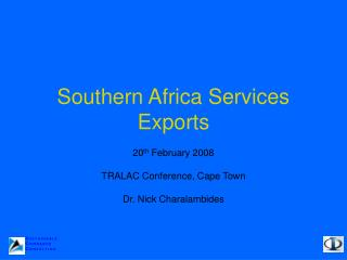 Southern Africa Services Exports