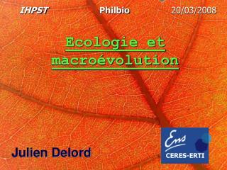 Ecologie et macroévolution