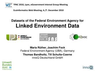 Datasets of the Federal Environment Agency for  Linked Environment Data