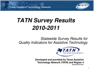 TATN Survey Results  2010-2011