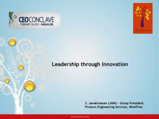Leadership through Innovation