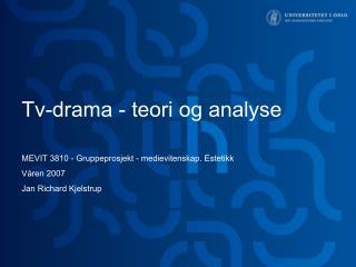 Tv-drama - teori og analyse