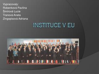 Instituce v EU