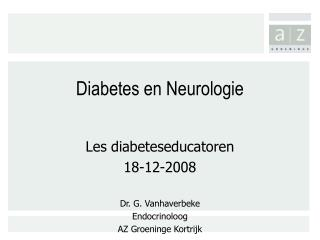 Diabetes en Neurologie
