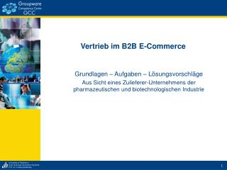 Vertrieb im B2B E-Commerce
