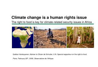 Climate change is a human rights issue