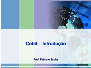 Cobit  – Introdução