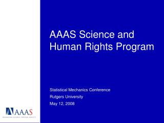 AAAS Science and Human Rights Program