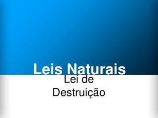 Leis Naturais