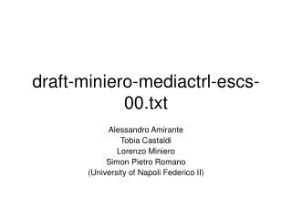draft-miniero-mediactrl-escs-00.txt