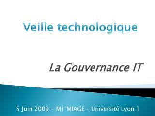 La Gouvernance IT