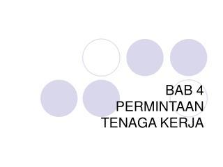 BAB 4 PERMINTAAN  TENAGA KERJA