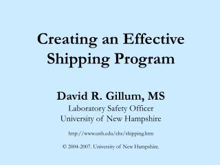 Creating an Effective Shipping Program