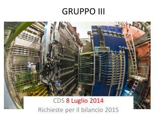 GRUPPO III