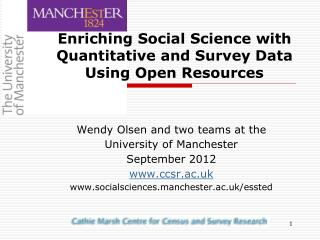 Enriching Social Science with Quantitative and Survey Data Using Open Resources