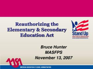 Bruce Hunter MASFPS November 13, 2007