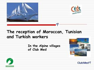 The reception of Moroccan, Tunisian and Turkish workers