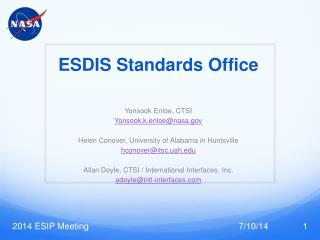 ESDIS Standards  Office