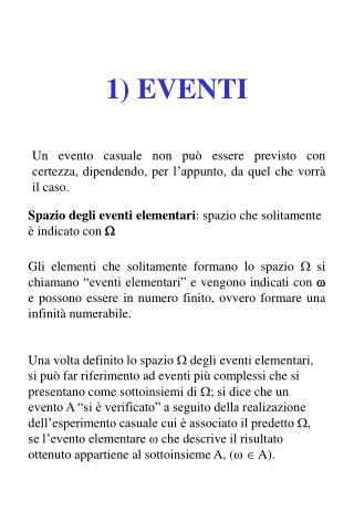 1) EVENTI