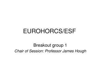 EUROHORCS/ESF