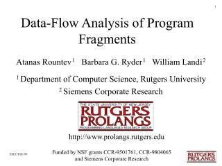 Data-Flow Analysis of Program Fragments