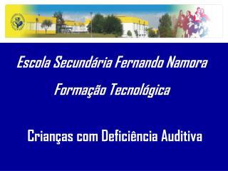 Escola Secund�ria Fernando Namora Forma��o Tecnol�gica