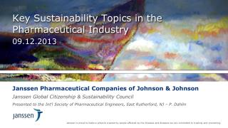 Key Sustainability Topics in the Pharmaceutical Industry