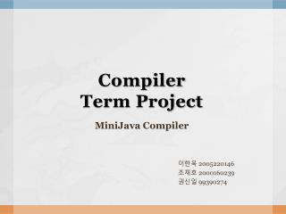 Compiler  Term Project