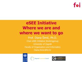 eSEE Initiative Where we are and where we want to go