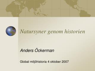 Natursyner genom historien