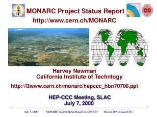 MONARC Project Status Report cern.ch/MONARC