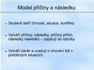 Model příčiny a následku
