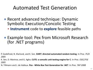 Automated Test Generation