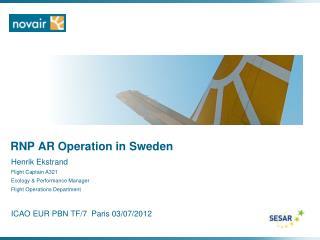 RNP AR Operation in Sweden