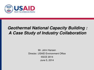 Geothermal National Capacity Building :  A Case Study of Industry Collaboration