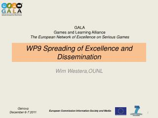 WP9 Spreading of Excellence and Dissemination