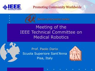 Meeting of the IEEE Technical Committee on Medical Robotics