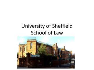 University of Sheffield School of Law