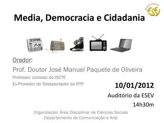 Media, Democracia e Cidadania