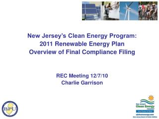 New Jersey's Clean Energy Program:  2011 Renewable Energy Plan