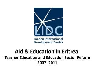1. Eritrea: regional geography & population