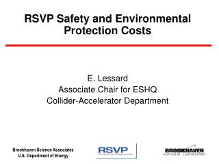 RSVP Safety and Environmental Protection Costs
