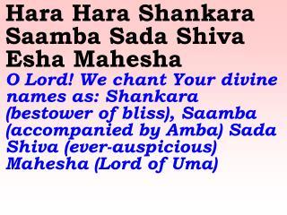 1107 Ver06L Hara Hara Shankara SaamBa Sada Shiva Esha Mahesha