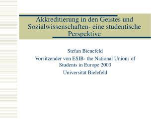 Akkreditierung in den Geistes und Sozialwissenschaften- eine studentische Perspektive